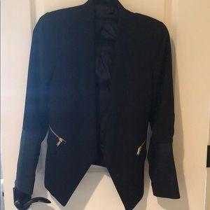Zara Blazer with faux leather sleeves Sz S